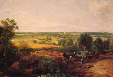 View of Dedham Romantic landscape John Constable Oil Paintings